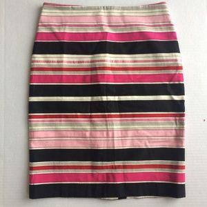 Talbots Striped Pencil Skirt